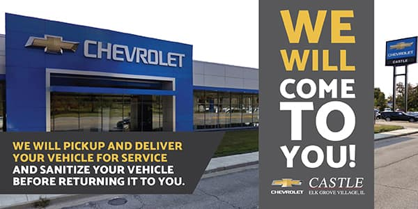 Castle Chevrolet North Offers Vehicle Pickup and Delivery
